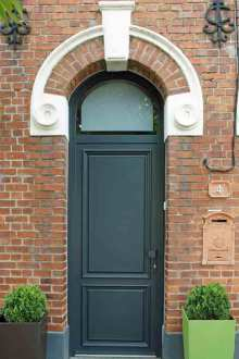Porte d'entrée PVC posée sur Fleurbaix