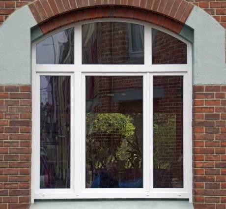 Fenêtre cintrée PVC blanche sur Mons en Baroeul